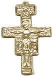 Rosary Crucifixes : Solid Gold: SanDamiano (Size 7) 14kt*