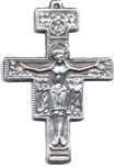 Rosary Crucifixes : Silver Colored: SanDamiano (Size 7) SP
