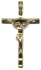 Rosary Crucifixes : Gold Colored: Wavy (Size 5) GP