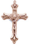 Crucifixes for Necklaces: Teardrop Crucifix 14kt
