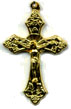 Rosary Crucifixes : Gold Colored: Traditional Small GP Size 4
