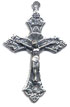 Rosary Crucifixes : Silver Colored: Traditional Small (Size 3) SP
