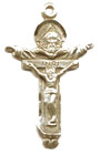 Rosary Crucifixes : Solid Gold: Trinity (Size 5) 14kt