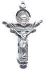 Rosary Crucifixes : Sterling Silver: Trinity (Size 5) SS