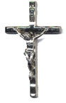 Rosary Crucifixes : Silver Colored: Wavy (Size 4) NS