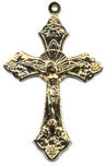 Rosary Crucifixes : Solid Gold: Traditional Crucifix 14KT