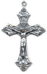 Rosary Crucifixes : Silver Colored: Traditional (Size 5) SP