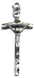 Rosary Crucifixes : Sterling Silver: Papal (Size 5) SS