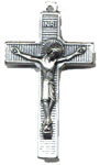Rosary Crucifixes : Silver Colored: Lourdes Water (Size 5) NS