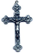Rosary Crucifixes : Silver Colored: Eucharistic Crucifix Size 6