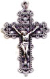 Rosary Crucifixes : Silver Colored: Lattice Crucifix SP