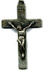 Rosary Crucifixes : Silver Colored: Grainy Crucifix Size 5