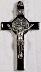 Crucifixes for Necklaces: St. Benedict Crucifix Blck Pls