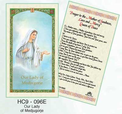 Holy Cards: Our Lady of Medjugorge