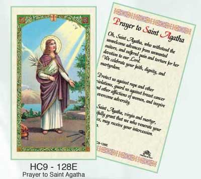 Holy Cards: Agatha