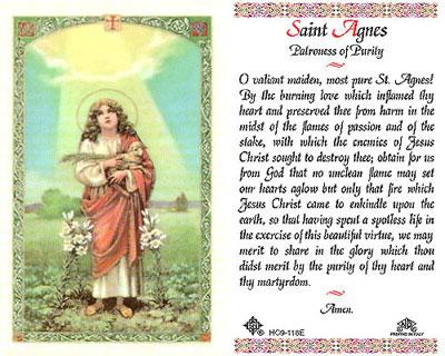 Holy Cards: Agnes