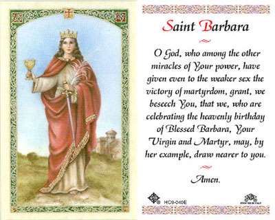 Holy Cards: Barbara