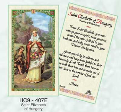 Holy Cards: Elizabeth of Hungary Holy Card