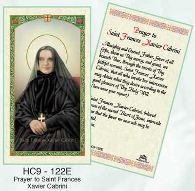 Items related to Francis Xavier: Francis Xavier Cabrini Holy Card