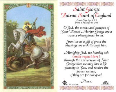Holy Cards: George