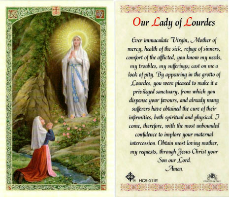 Holy Cards: Our Lady of Lourdes Card