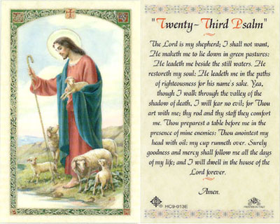 Holy Cards: 23rd Psalm Holy Card