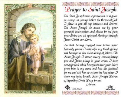 Holy Cards: Prayer to St. Joseph