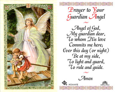 Holy Cards Prayer To Your Guardian Angel Holy Card