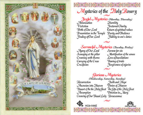 Holy Cards: Mysteries of the Holy Rosary