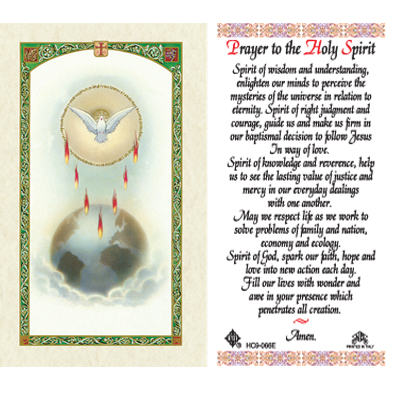 Holy Cards: Prayer to the Holy Spirit