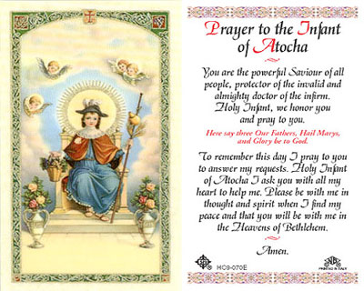 Holy Cards: Prayer to the Infant of Atocha