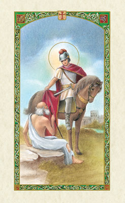 Holy Cards: Prayer to St. Martin de Tours