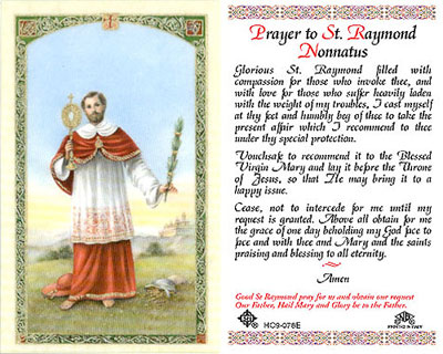 Holy Cards: Prayer to St. Raymond Nonnatus