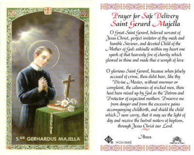 Holy Cards: Prayer to St. Gerard Majella