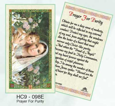 Holy Cards: Prayer for Purity
