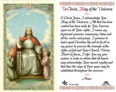Holy Cards: Christ the King