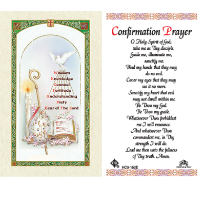 Holy Cards: Confirmation Prayer