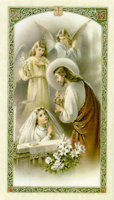 Holy Cards: Communion Prayer (Girls)