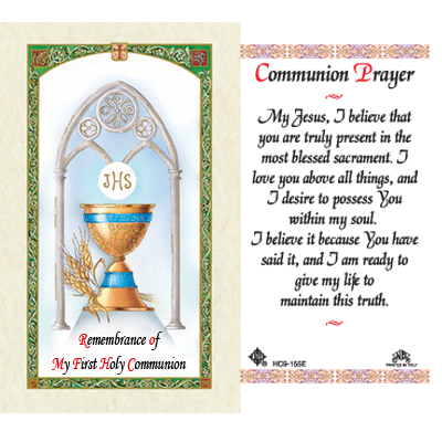 Holy Cards: Communion Prayer Holy Card (General)
