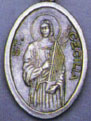Religious Saint Holy Medal : Silver Colored: St. Cecilia OX Saint Medal
