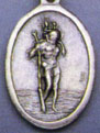 Religious Saint Holy Medal : Silver Colored: St. Christopher OX Saint Medal