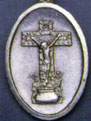 Religious Saint Holy Medal : Silver Colored: Crucifix OX Medal