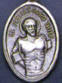 Religious Saint Holy Medal : Silver Colored: St. Dismas OX Saint Medal