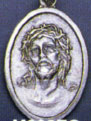 Religious Saint Holy Medal : Silver Colored: Ecce Homo OX Saint Medal