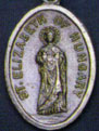 Religious Saint Holy Medal : Silver Colored: St. Elizabeth of Hungary OX Md