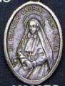 Religious Saint Holy Medal : Silver Colored: St. Frances Cabrini OX Medal
