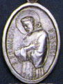 Religious Saint Holy Medal : Silver Colored: St. Francis of Assisi OX Medal