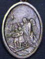 Religious Saint Holy Medal : Silver Colored: Guardian Angel OX Saint Medal