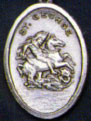 Religious Saint Holy Medal : Silver Colored: St. George OX Saint Medal