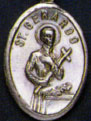 Religious Saint Holy Medal : Silver Colored: St. Gerard OX Saint Medal